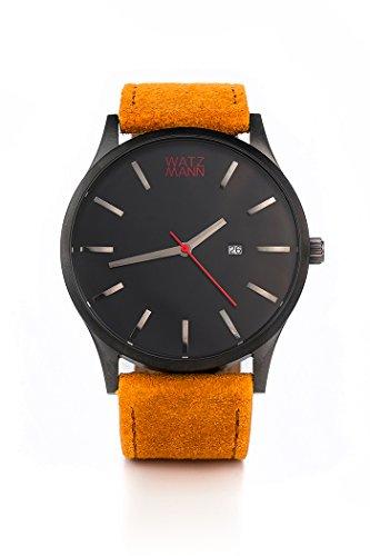 WATZMANN watch // black edition - minimalistische Herrenuhr - Schweizer Uhrwerk