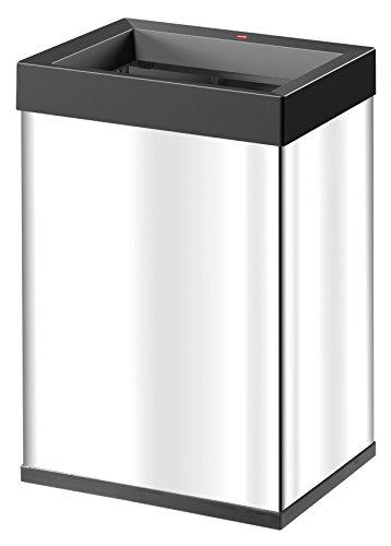 Hailo Big-Box Quick L Mülleimer (35 Liter, extra große Einwurföffnung, Müllbeutel-Klemmrahmen) 0840-211