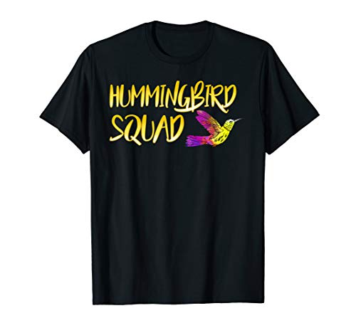 Humming Bird Lovers Hummingbird Squad Hummingbird T-Shirt