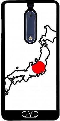 Coque pour Nokia 5 - Japon Carte De Drapeau by Cadellin