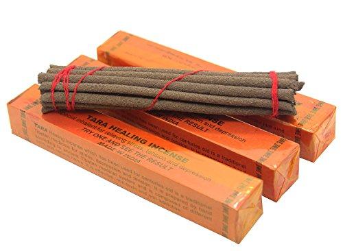 Essenzen, Räucherstäbchen (Tibetische Räucherstäbchen-Tara Healing Incense Räucherware 13.97 cm lang, 3 Packungen, 20 Stück pro Packung)