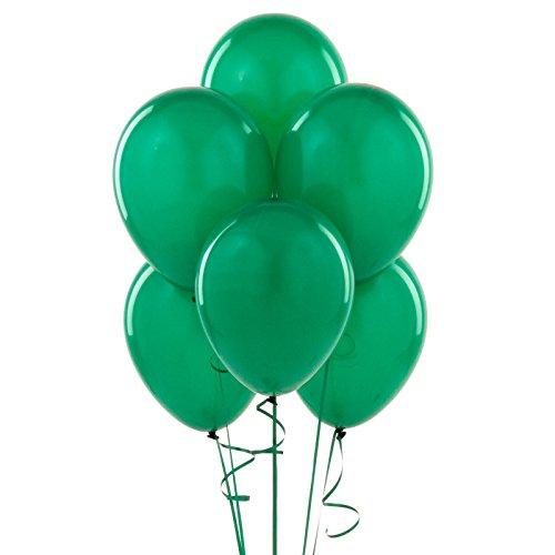 Gifts 4 All Occasions Limited SHATCHI-1039 - Lote de globos de látex (50 unidades, 25,4 cm), color verde oscuro