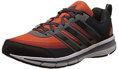 adidas Men's Magnus 3.0 M Black, Dark Grey, Grey and Orange Mesh Running Shoes - 10 UK
