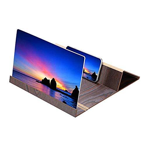 L&Z 12-Zoll-HD-Handy-Bildschirm-Verstärker mit Holzrahmen Strahlenschutz für iPhone X / 8/8 Plus, Samsung Galaxy S8 / S8 + / S7 / S7 Edge / S6 / S6 Rand für Note 5 / Note 8