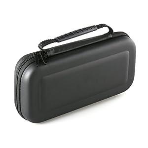 SKGAMES Tasche Hardcase Reise Schutz Hülle für Nintendo Switch Konsole, 10 Spiele und Zubehör / Schwarz
