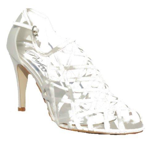 en Peep Toes , Elfenbein - elfenbeinfarben - Größe: 42 (Girls Elfenbein Satin Schuhe)