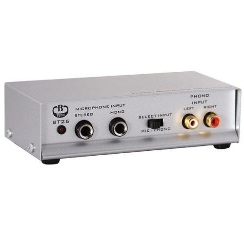 B-TECH BT26/S Phono/ Mikrofon-Vorverstärker (parallelen Ausgängen) Silber
