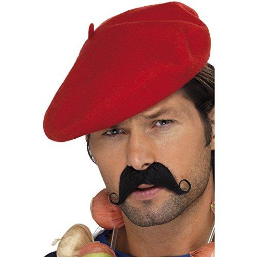 Beret Boina Rojo Vasco boina Franceses Gorro Franceses Gorro BARETTE tocado Carnaval Disfraces accesorios