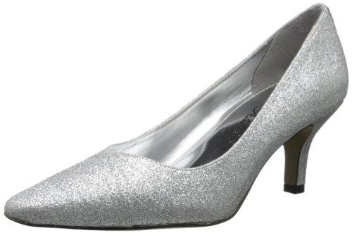 Easy Street Chiffon Damen Spitz Synthetik Stöckelschuhe Silber Glitter