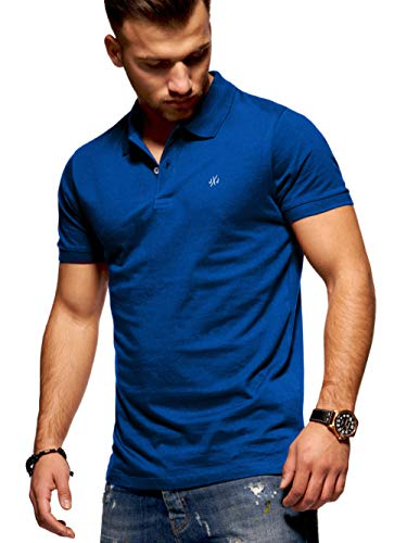 JACK & JONES Herren Poloshirt Polohemd Shirt Basic Polo Taxis (Large, Surf The Web)