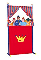 Simba 104586783 Puppet Theatre with Four Hand Puppets 132 cm