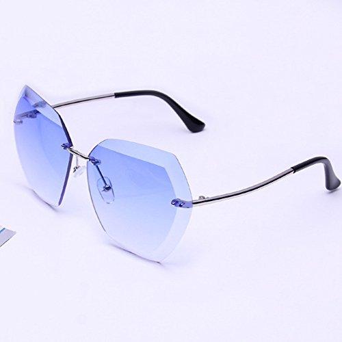 Lubier Señoras de Gafas de Sol de framless Mujer Belleza Conducción Gafas Deportivas Gafas de Sol al Aire Libre (1pcs)