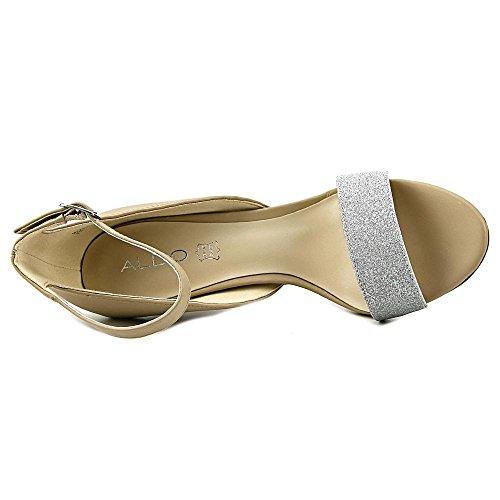 Aldo Theiven Synthetik Sandale Silver/Nude