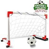 Nuheby Fussballtor Fußballtor Kinder Tor Mobile Mit Musik, Indoor Outdoor Fußballtor Garten Spielzeug Kinder ab 3 4 5 Jahre Junge Mädchen(67 * 30 * 41.5cm)