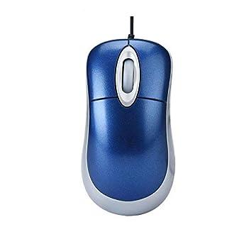 AcGoSp USB-Mini-Maus, optische Maus mit ausziehbarem Kabel für PC/Laptop mit Scrollrad–Plug & Play & Windows 10kompatibel–einfach installiert mit Android & Mac Geräten blau blau