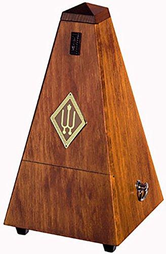 Wittner Taktell Pyramidenform Metronom Holzgehäuse mit Glocke Nußbaum-hochglanz -