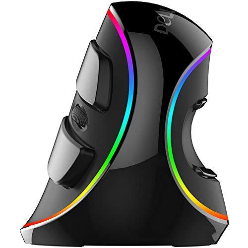 Kabelgebundene Vertikal Maus,Optische Ergonomische Maus,6Tasten-Computerspielmaus, geeignet für Laptops,1600 (dpi) (dpi)ergonomisches Design Maus Meridian-taste