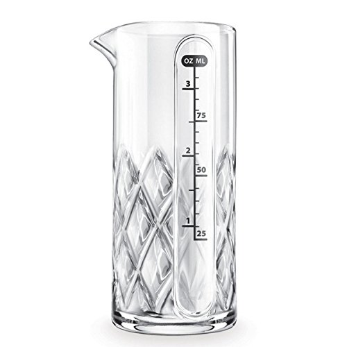 Final Touch Yarai Double Jigger Glass Cocktail Mixing Jug Heavy Duty Messbecher Thick Walled Glass - 3.4oz / 100ml (Oz Messbecher)