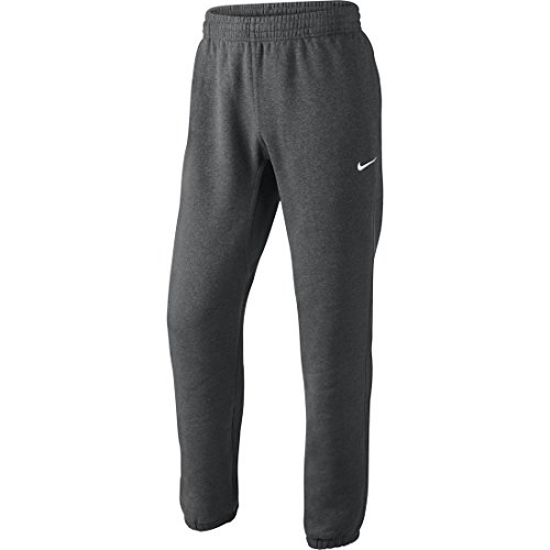 Nike Herren Sweathose Squad Fleece, charcoal heathr/white, M, 611459-071 (Fleece-gefütterte Trainingshose)
