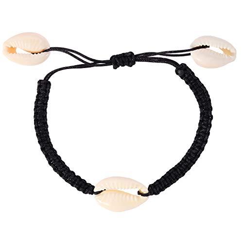 UINGKID Damen-Armband Armreif natürliche Shell handgewebte einstellbare Pull Armband Damen Schmuck - Serie Ring-pull