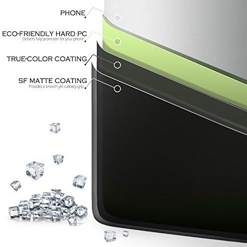 SLEO Coque iPhone 7 Plus, iPhone 8 Plus, Etui PC Simple Semi-Rigide Arrière Protection Solide Anti-Rayures Léger Portable Shell Armor Résistant aux décoloration Qualité Cover Case Housse pour iPhone 7 Noir