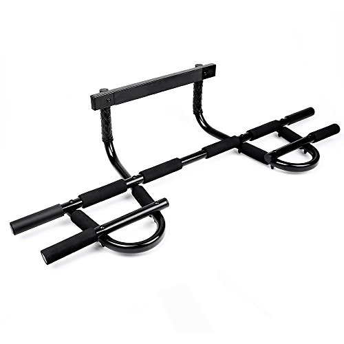 Tür Brust (Sportneer Chin Up Bar Multi-Grip Pull Up Bar Klimmzugstange Tür Gym für Home Gym, hält bis zu 150 kg)
