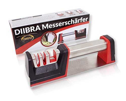 DIIBRA Messerschleifer | Messerschärfer | Scherenschleifer | Knife Sharpener | Schärfer | Messerschaerfer - Stein-küche Messerschärfer