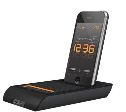 XtremeMac IPU-MDK-13 3in1 Microdock (tragbarer Lautsprecher, Ladegerät und Wecker) für iPod und iPhone (Wecker, Ipod-ladegerät)