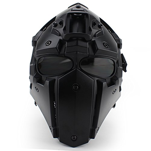Full-covered taktischen Outdoor Motorrad Helm mit Maske Schutzbrille für Jagd Paintball Military Cosplay Movie Prop