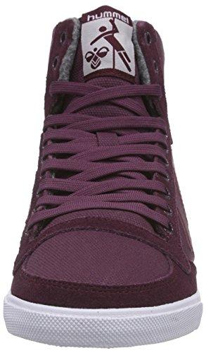 Hummel Hummel Slimmer Stadil Waxed Hi, Baskets hautes mixte adulte Rouge - Rot (Grape Wine 3506)