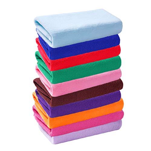 Yardwe 10 stücke mikrofaser handtücher weiches Gesicht handtücher schnell trocknend waschen handtücher für Bad spa Gym Hand Reise 25x25 cm