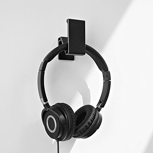 Kopfhörer Ständer, GVDV Kopfhörerhalterung aus Aluminium unter Schreibtisch Headset Halterung Kopfhörer halter Standplatz für alle Headset Kopfhörer (Schwarz) - 3
