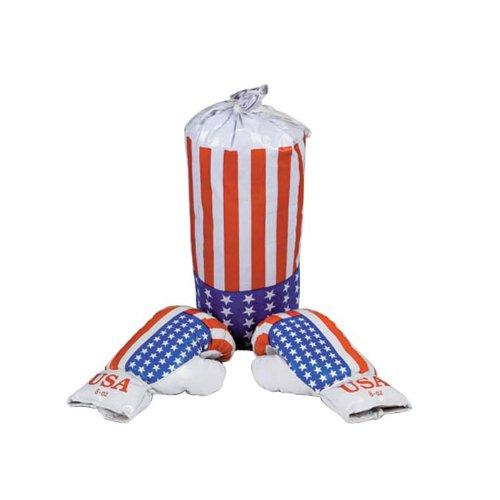 Kinder Boxsack inkl. Box Handschuhe Motiv AMERIKA