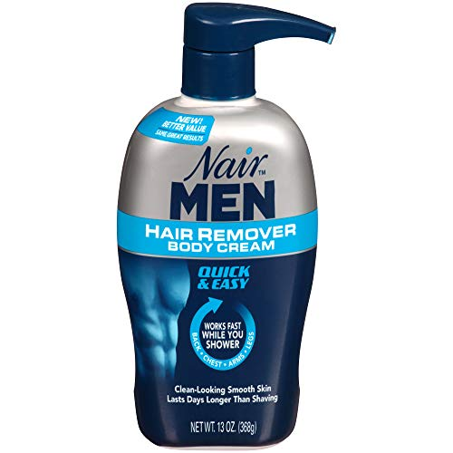 Nair Men Hair Removal Body Cream (368 g) Herren Haarentfernungsmittel (Creme) Pumpspender