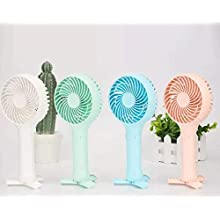 2020 Summer Portable FAN - Fashion FAN - Multiple use- Rechargeable portable fan with built in tripod stand - Macaroon style - Stay COOL - For Outdoors, Beach, Office, Garden (White Macaroon)