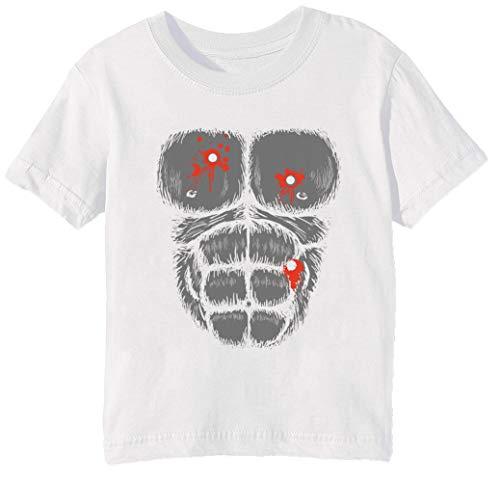 Harambe Halloween Kostüm - Schuss Gorilla Brust Kinder Unisex Jungen Mädchen T-Shirt Rundhals Weiß Kurzarm Größe L Kids Boys Girls White Large Size L