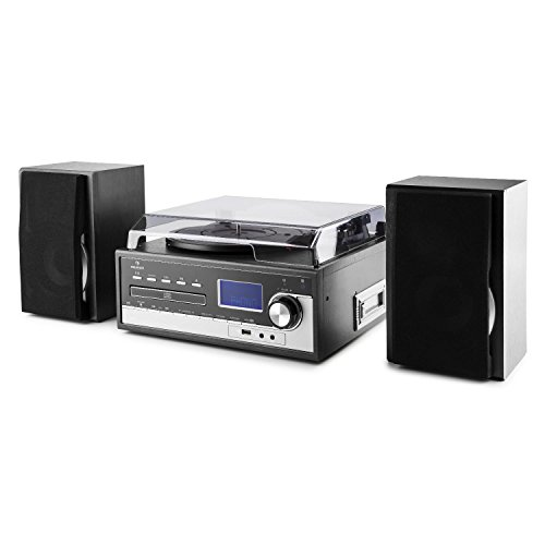 Auna Blackwood 2019 Edition Tocadiscos estéreo • Sistema Multimedia • Altavoces •...
