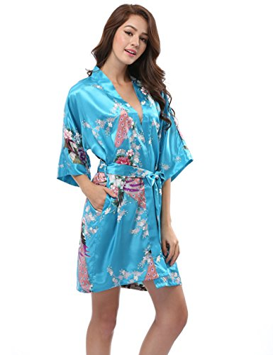 sunnyhu-womens-satin-robe-with-pockets-peacock-design-short-l-sky-blue