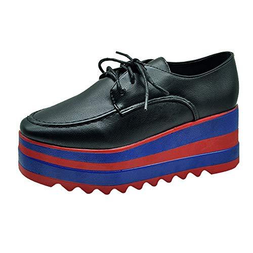serliy Mode Frauen erhöhen High-Sohle Einzelne Schuhe Studenten Freizeitschuhe männliche Fliegen Sportschuhe Laufschuhe Stiefeletten Winterschuhe Markenschuhe Bequeme Pumps Schicke schnürschuhe
