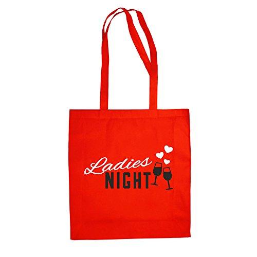 Baumwolltasche - Ladies Night Herzen - von SHIRT DEPARTMENT Weiss-Rot
