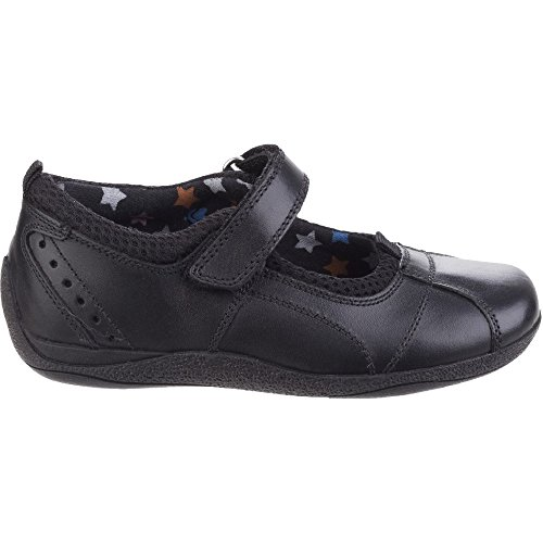 Hush Puppies Cindy Snr, Mary Jane fille Black Leather