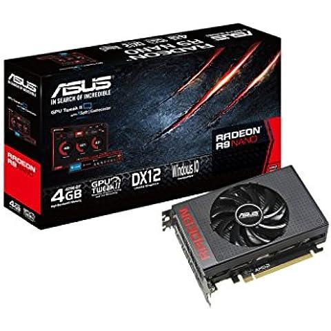 Asus AMD Radeon R9 Nano 4 GB tarjeta gráfica HBM (PCI Express 3,0, 4096 bit, HDMI, puerto de pantalla 3 x)