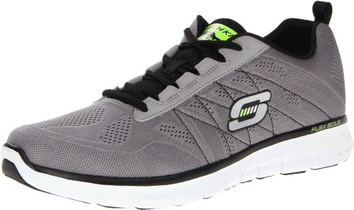 Skechers Synergy Power Switch, Chaussures de sports en salle homme Gris (Lgbk)