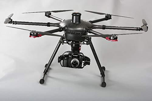 Yuneec Tornado Set esacottero con valigetta, 2 batterie, presa ProAction, telecomando ST24, digital video Downlink e macchina fotografica Gimbal GB603 per Panasonic GH3/4