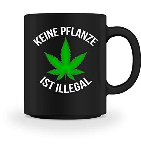 PlimPlom Keine Pflanze Ist Illegal Kaffeetasse Marihuana Tasse Spaßgeschenk Spruch Geschenk Idee -...