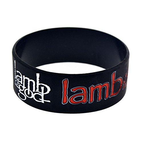 North King Silikon-Ring Lamb of God Silikon Armband 1-Zoll Handgelenk Riemen -