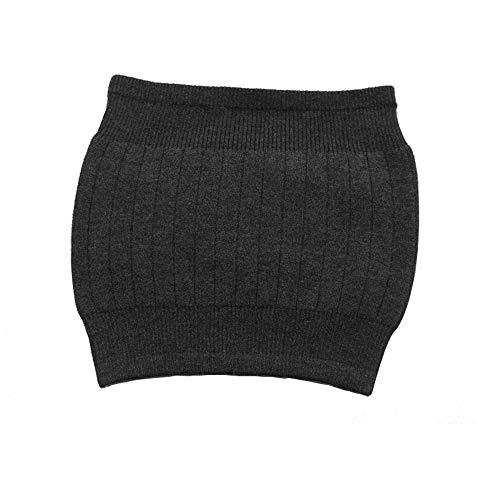 AGIA TEX Nierenwärmer Rückenwärmer atmungsaktiv elastisch Kaschmir-Wolle Leibwärmer für Damen Herren Kinder Farbe schwarz