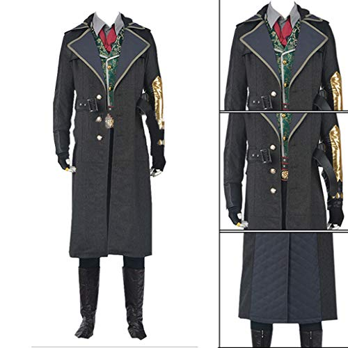 Kostüm Assassin's Creed Syndicate - Anime Co Assassin's Creed Yuxiong Ärmel Schwert Spiel Syndicate Cos Revolution Cosplay Kostüm Halloween-Kostüm,Black-XL(178to182)