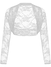 Paramount Long Sleeve Cropped Lace Bolero Shrug