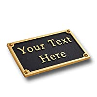 The Metal Foundry Personalised Brass Plaque sign 12cm x 7.5cm Rectangle